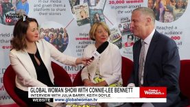 Global Woman Show with Connie Lee Bennet  – Interview with Julia Barry And Keith Doyle